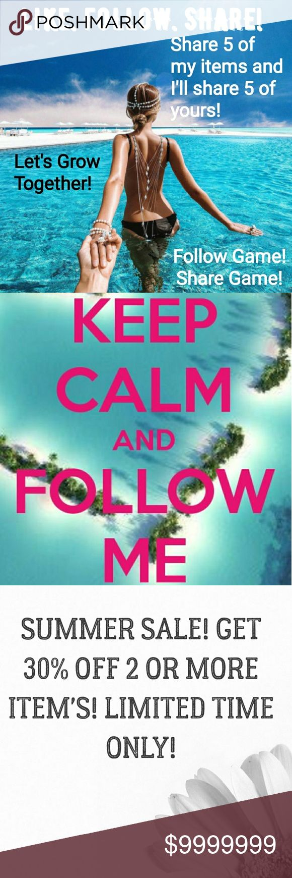 🔆 Share! Share! Share! WANT MORE FOLLOWERS? 🔆 SUMMER FOLLOW GAME! SHARE GAME!  ✔Follow me! Don't forget to follow me before sharing! ✔Follow everyone who's liked this post! ✔Share this post! ✔Share 5 of my listings and I will share 5 of yours! ✔Check back often for new followers!  Tags: camo country girl southern girl western southwestern turquoise share game pistol shotgun shell jewelry silver earrings gift follow game buckle miss me justin boots ariat cowgirl aero aeropostale boot cut…