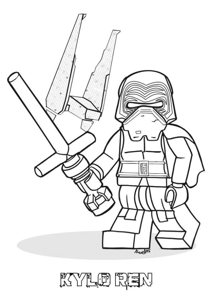 Kylo Ren Coloring Pages Lego Coloring Pages Star Wars Colors