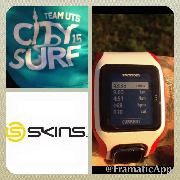 Today was just a slow 9km jog, trying to prepare for this Sunday's 28km  And next weeks City2Surf!!
