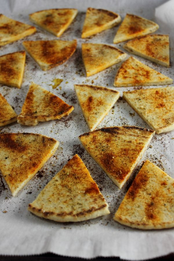 Homemade pita chips!!! Wooohooo! See more at wee.hcgwarrior.com/recipes.html