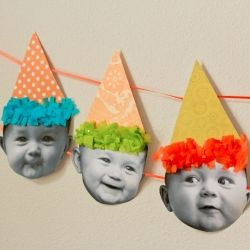 This banner is so much fun and showcases all the faces of your baby for their birthday.