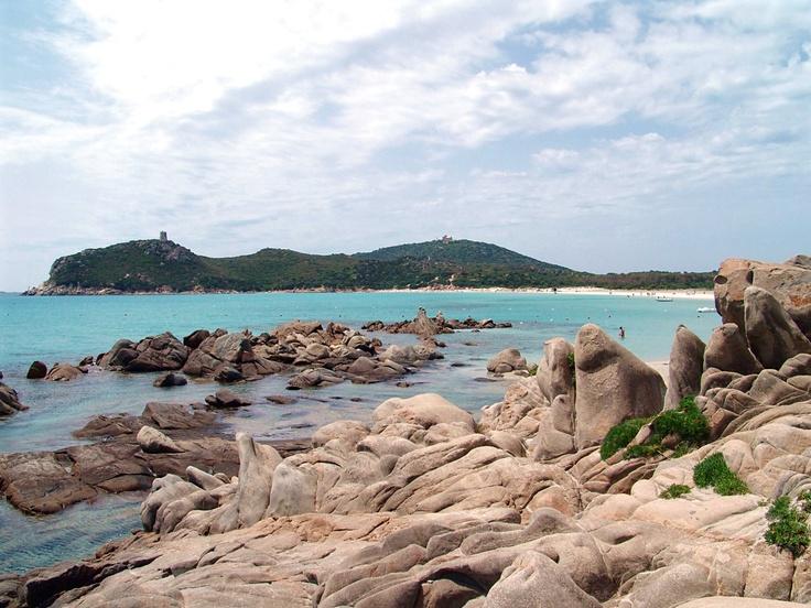 Villasimius beach (Cagliari, Sardinia)  Incredible how this Mediterranean beach look so similar to Caribbean.