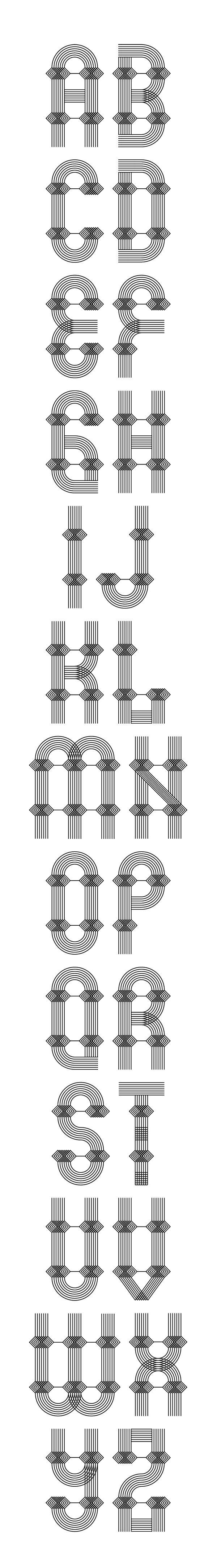 Broken Arrow Font / designed by Patrick Seymour
