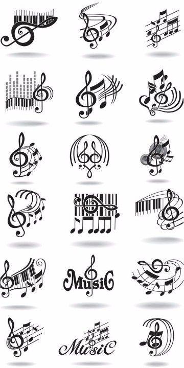 Diseños E Imagenes De Notas Musicales Para Tatuajes Müzik