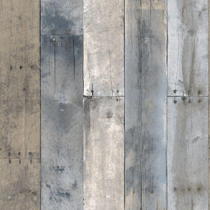 Sample Repurposed Wood Multi-Colored Textured Self Adhesive Wallpaper by…