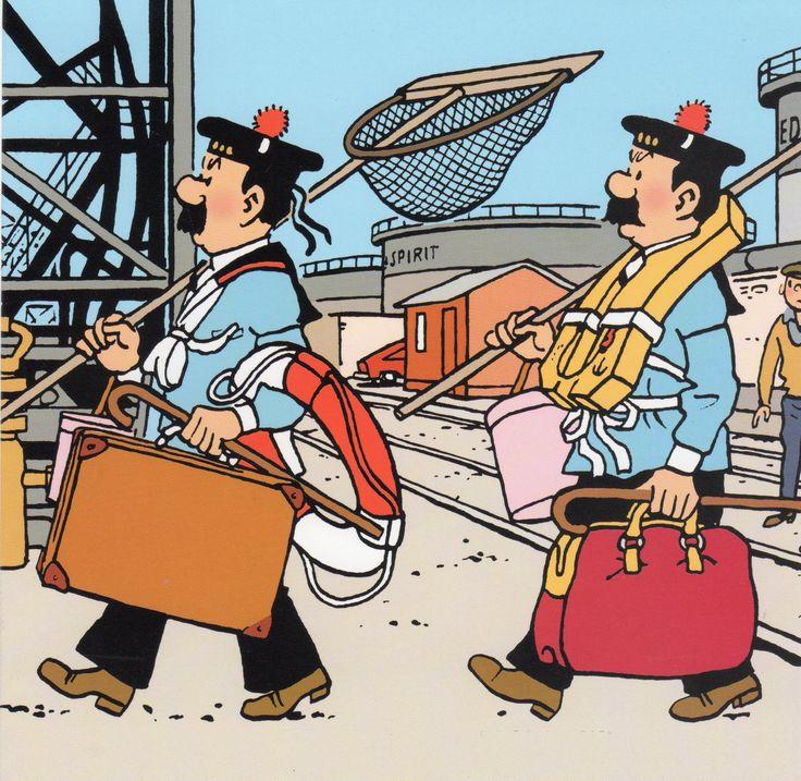 Tintin au pays de l'or noir.  Tintin remplace ou fait le job des policiers défaillants ?