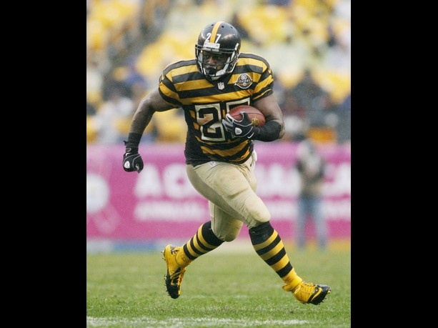 Pittsburgh Steelers throwback unis.  Vomit on cloth.
