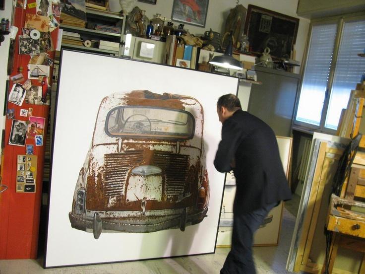 Rust never sleeps: Neil Young lo cantava, Bartolini lo dipinge. Studio di Giuseppe Bartolini, Pisa 2012.