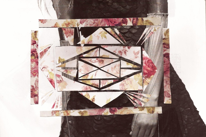 Semi-geometric collage by Claire Clift