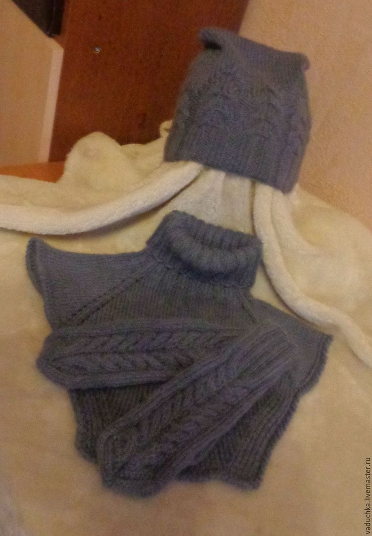 Купить Комплект Шапочка, манишка, рукавички - серый, аксессуары, шапка, шапка женская, шапка зимняя