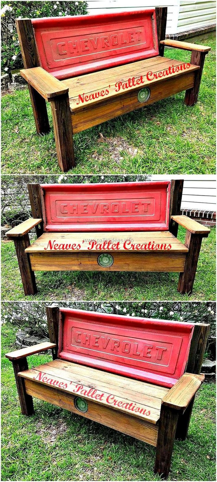 recalimed pallets rustic garden bench