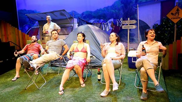 Pegged: Ben Ager, Jamie Oxenbould, David Terry, Karen Pang, Jennifer Corren and Michelle Doake in CAMP.