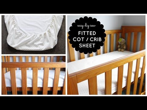 {Step-by-Step Sewing} DIY Baby Cot / Crib Fitted Sheet Tutorial - YouTube