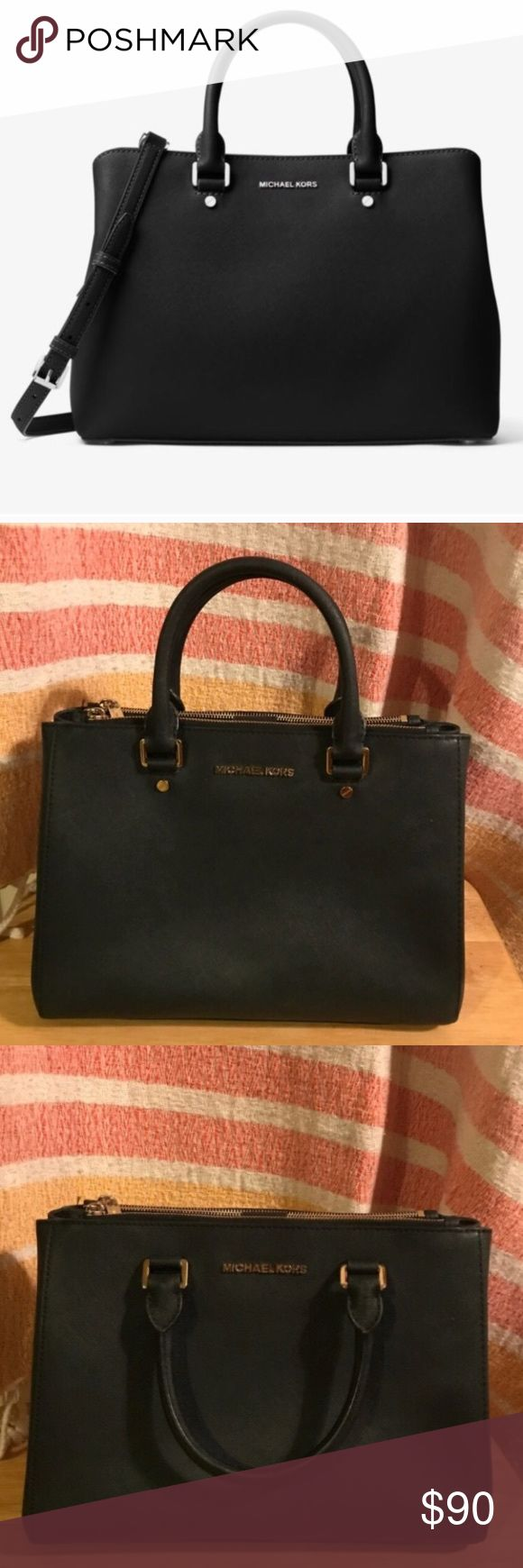 Micheal Kors Handbag gold hardware Lightly worn. Good condition. Gold hardware. Michael Kors Bags Satchels