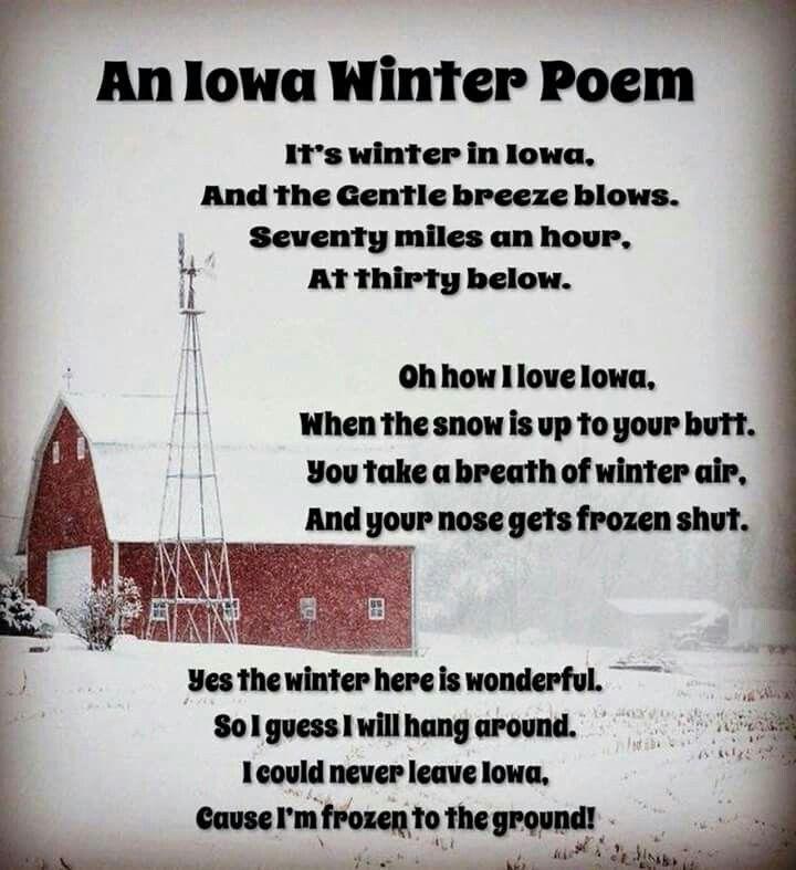 Iowa Winter Poem