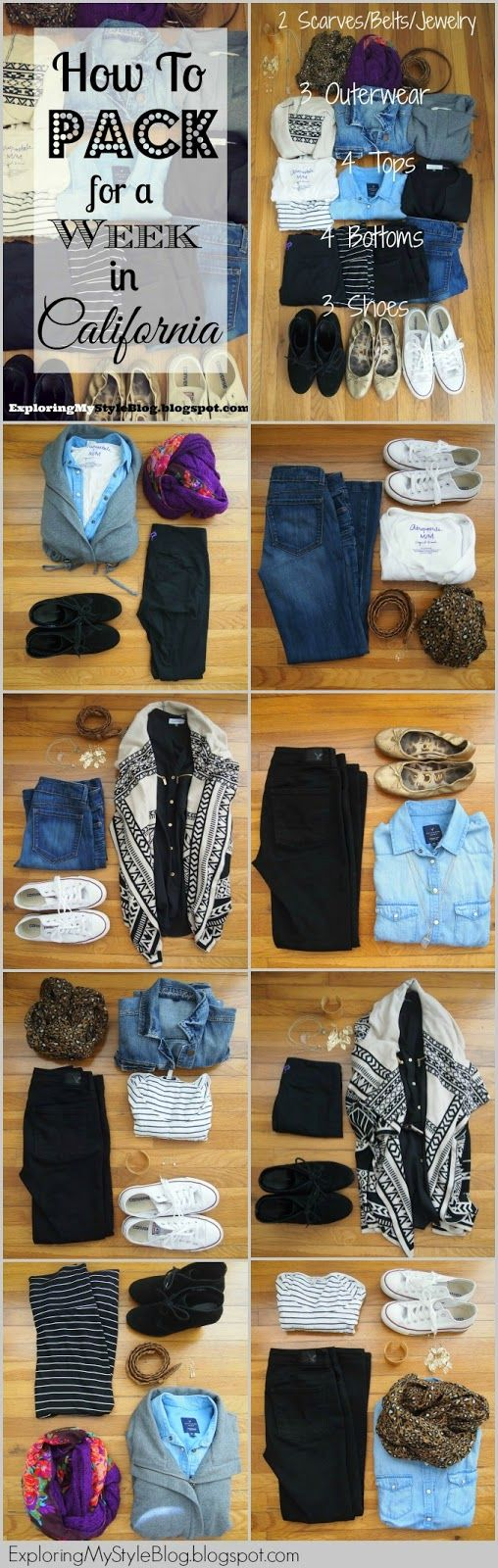 Exploring My Style: What to Pack for a Week in California: Winter