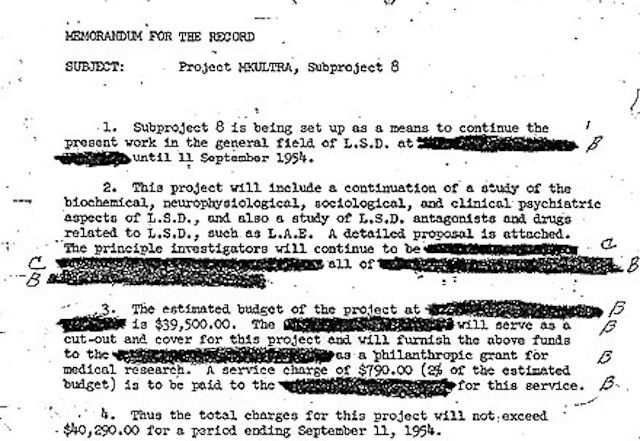 an introduction to the history of the project mkultra Introduction project mkultra—sometimes referred to as the cia's mind control program—was the code name given to an illegal program of experiments on human subjects, designed and undertaken by the united states central intelligence agency (cia.