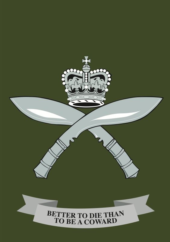 The Royal Gurkha Rifles (RGR) is a rifle regiment of the British Army, forming part of the Brigade of Gurkhas. Unlike other regiments in the British army, soldiers are recruited from Nepal, which is neither a dependent territory of the United Kingdom nor a member of the Commonwealth. Their motto is: 'Better to die than live a coward'. The RGR was formed 1 July 1994.