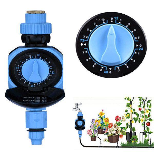 Botão rotativo solenóide automática controlador temporizador válvula água jardim da estufa de irrigação sincronismo - Banggood Móvel