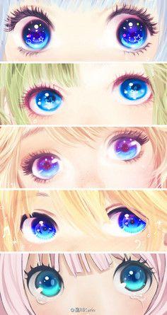 nuonuo诺雪采集到CG--眼睛/鼻子/嘴巴画法