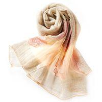 Ladies Silk Wool Scarf luxury brand Solid Color Fashion Bandana Printing Softness Floral Foulard Femme Pashmina Sjaal W6039