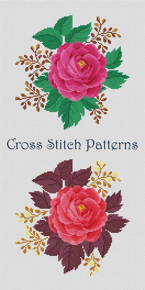 Wild Roses Chart Counted Cross Stitch Pattern Needlework Xstitch DIY Craft DMC