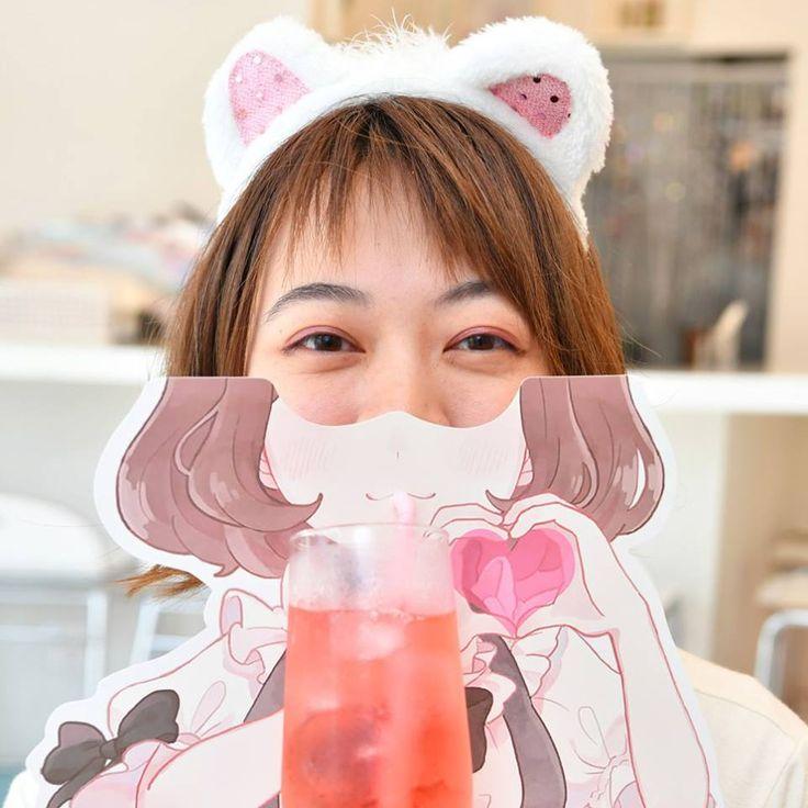 Maid themed drink at a cute maid cafe! #japankuru #maidcafe #akiba #akihabara #akibazettai #drink #kawaii #アキバ絶対 #アキバ絶対領域 #秋葉原 #メイド #メイドカフェ #かわいい #メイド体験