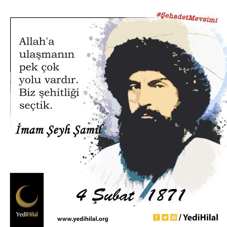 RT @YediHilal: Kafkasya Direnişinin Simgesi Hürriyet Aşığı Cesur Komutan İmam Şeyh Şamil'i Vefatının 146. Yıl Dönümünde Hayırla A https://t.co/u2PXlhz1be