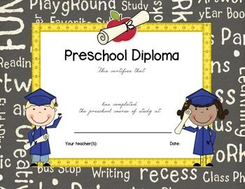 24 best diplomas images on pinterest graduation ideas pre preschool graduationcompletion certificate yadclub