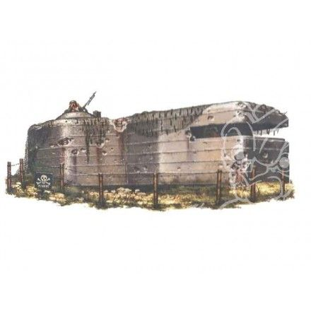 R2 maquette militaire 13338 GRAND BUNKER avec POSTE MITRAILLEUSE 1/35