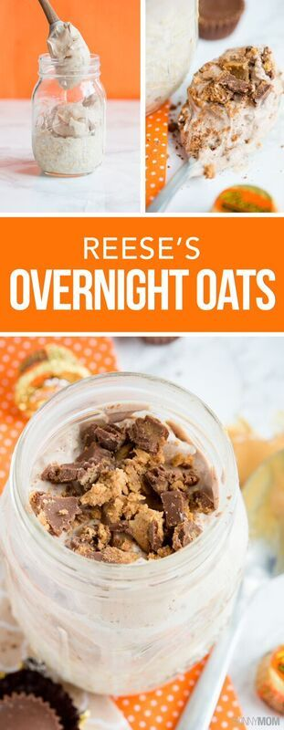 Reese's Overnight Oats- This chocolate oat recipe  is one of our favorites that your entire family will enjoy!