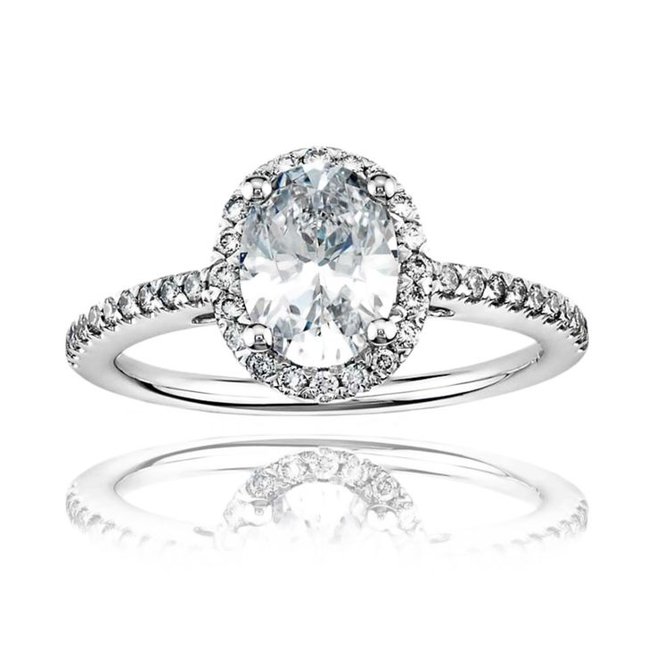 DK Jewel - available on Joolz! Gorgeous oval shaped diamond engagemnet ring.