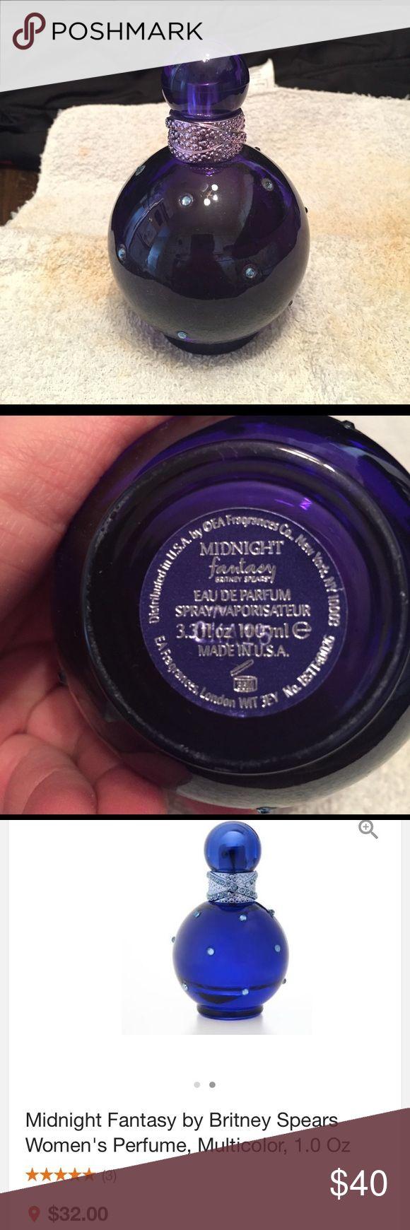 Britney Spears Midnight fantasy perfume Midnight fantasy .. bottle is 80% full britney spears  Accessories