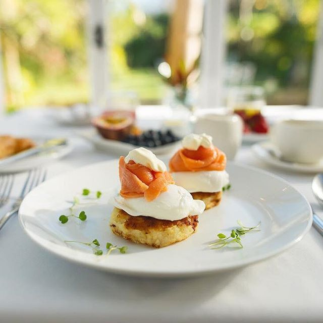 Our new breakfast menu features delicious dishes such as The Rosti. A crisp potato rosti topped with perfectly poached eggs, smoked salmon, cream cheese and hollandaise sauce.