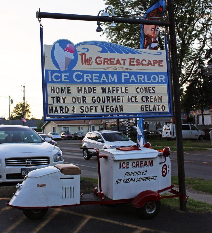 Vegan Ice Cream at Great Escape in Watkins Glen, NY | Justin Plus Lauren