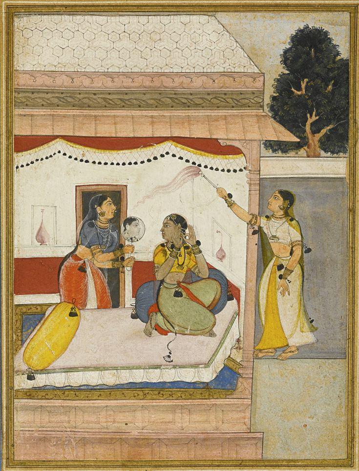 An illustrated page from a Ragamala series, Bilaval Ragini of Raga Hindol, Popular Mughal, early 17th century | lot | Sotheby's