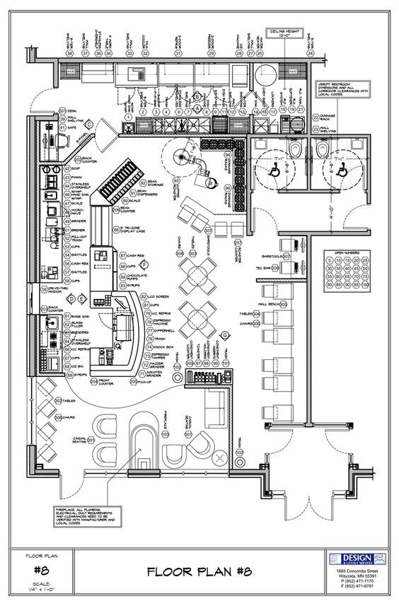 Coffee Shop floor plan: