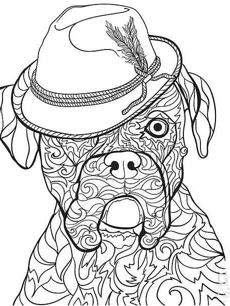 Boxer Dog Coloring Page Puppy Coloring Pages Dog Coloring Page Boxer Dogs Art