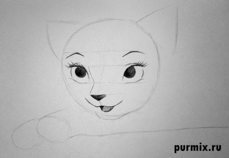 Как нарисовать Герцогиню из мультфильма коты Аристократы