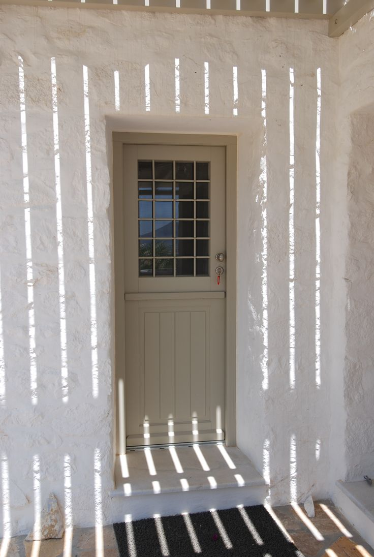 The famous Greek summer light ! Accoya wooden door