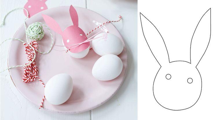 Húsvéti dekoráció papírból: így lesz a tojásból nyúl - http://www.nlcafe.hu/otthon/20150319/husvet-2015-dekoracio-husveti-tojas-husveti-nyal-sablon/