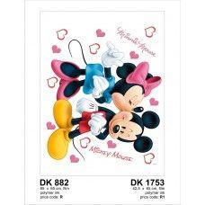 Mickey és Minnie fal matrica