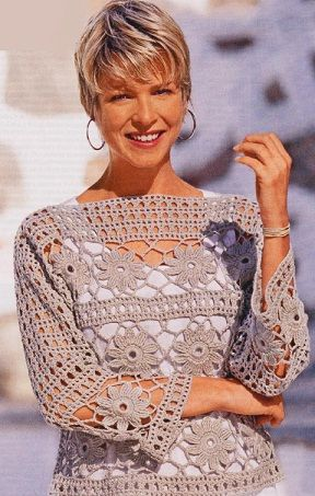 Beautiful crochet.  Comes with graphic pattern. Hope for Google translate for the rest...