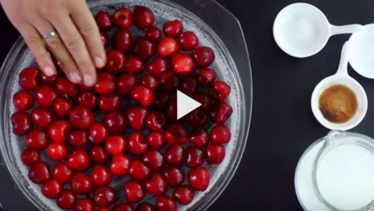 She Pours Batter Over A Baking Dish full of recent Cherries. What She Creates is basically Delicious Fruits ar a middle year treat and there's