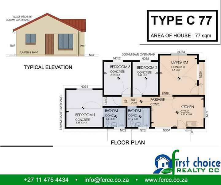 First Choice Realty CC has a number of home plans which are designed around affordability and budget. Contact us for a consultation and we can build the home that suit your pocket and your #lifestyle.#affordablehomes #investments