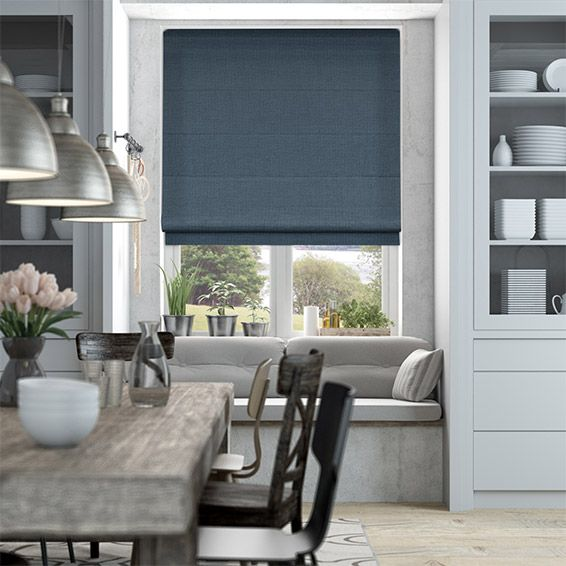 Dover Channel Blue Roman Blind from Blinds 2go