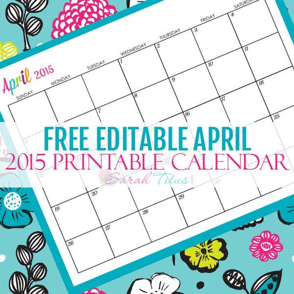 35 Best Diy Calendars Images On Pinterest Free Printables