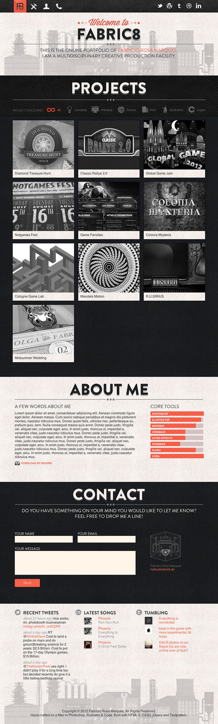 15 Stylish Examples of Portfolio Web Design