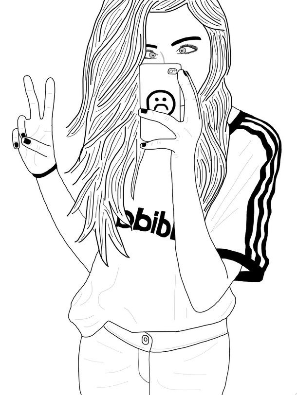 How To Line Drawing Tumblr : Pin by 🎀brandi s 🎀 on tumblr girl drawings pinterest