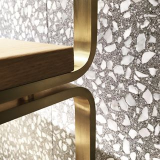 Terrazzo is common for #flooring but can also be designed for #walls. doyledickersonterrazzo.com